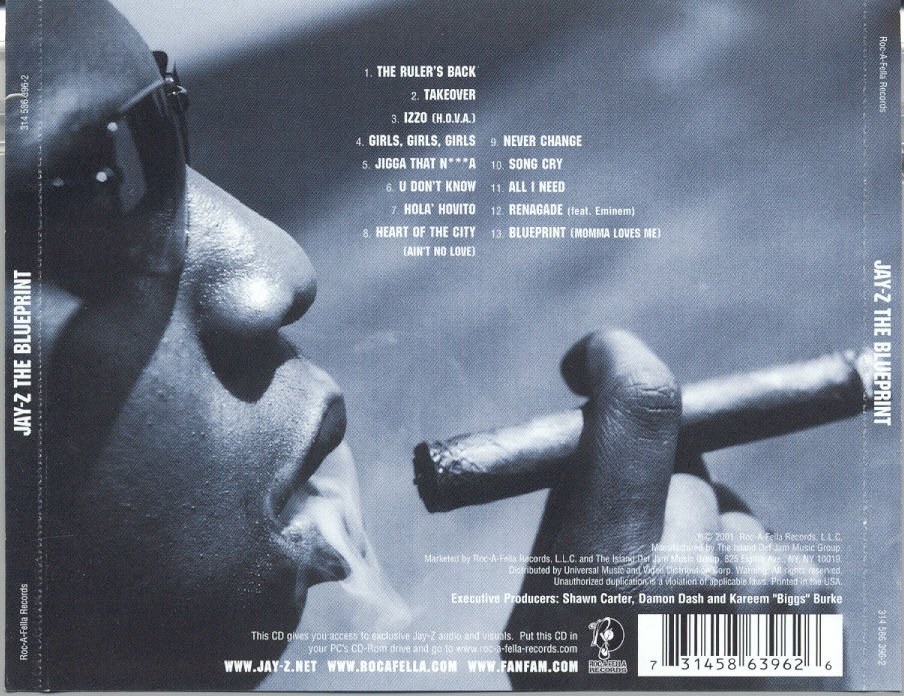 Classic cd reviews the blueprint jay z mic life magazine back of the bluepring malvernweather Images